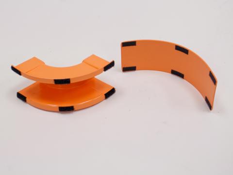 New Newton 00251600CB Horizontal T 4x4 Orange Pre-Drilled