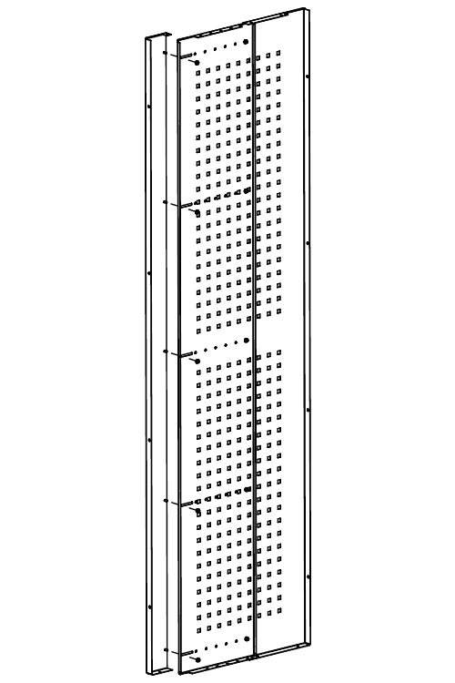 Adjustable Side Panel for security cage